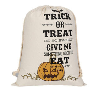Large Halloween Trick or Treat drawstring bag